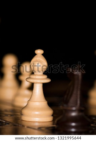 Chess photographed on a chessboard #1321995644