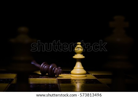 Chess photographed on a chessboard #573813496