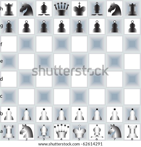 chess pieces and table, abstract art illustration; for vector format please visit my gallery - stock photo
