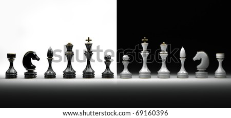 Chess pieces set a complete set of chess pieces. isolated. 3d rende