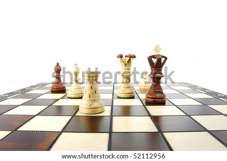 chess pieces showing concept for strategy success and battle in business