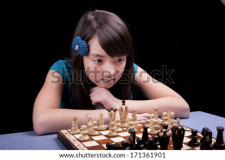 Chess player deep in thought.