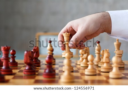 Chess, playing with white pieces