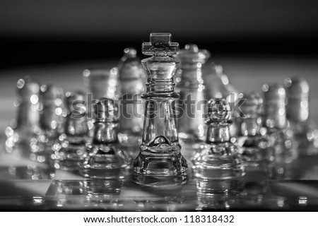 Chess set - business concept series - strategy, team, team building, company, corporation, meeting, conference, political party, etc.