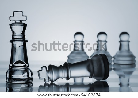 Chess Set Collection represents business or politic strategy.
