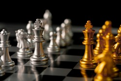 Chess. strategy ideas Planning and Decision concept business