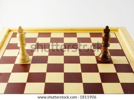 Chess - white king alone against his black opponent