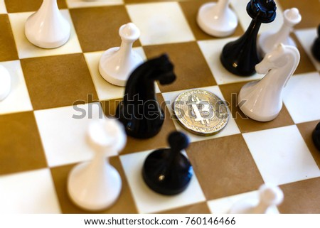 Chess with coin bitcoins behind the scenes business competition ideas for rewarding returns  #760146466