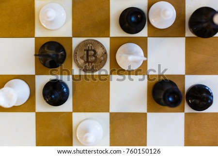 Chess with coin bitcoins behind the scenes business competition ideas for rewarding returns  #760150126