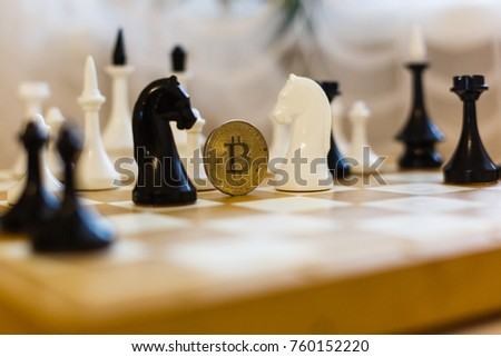 Chess with coin bitcoins behind the scenes business competition ideas for rewarding returns  #760152220