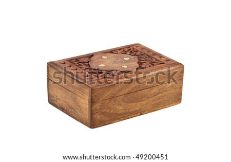 Chest isolated on the white background