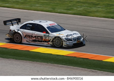 CHESTE, VALENCIA, SPAIN - MAY 23: Driver Di Resta, DTM race at Cheste Circuit on May 22nd, 2010 in Cheste, Spain