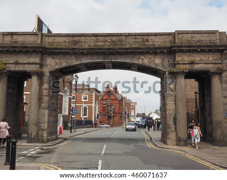 CHESTER, UK - CIRCA JUNE 2016: View of the old city centre #460071637