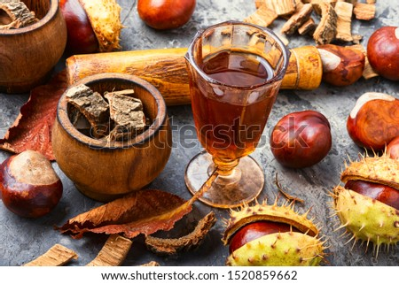 Chestnut and its ingredients in traditional medicine.Herbal medicine.