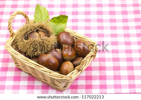 Chestnut\'s served in a basket.