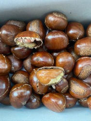 Chestnut scented  Roasted with coffee beans  Mix with a little sugar, smells good.  And the mellow, sweet and creamy taste, in Thailand it is called Kaolak.