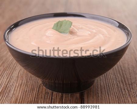 chestnut soup - stock photo