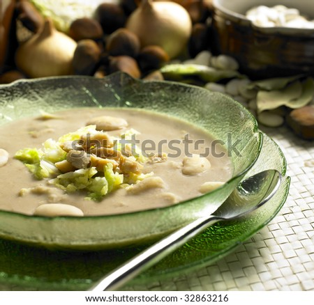 chestnut soup with savoy cabbage