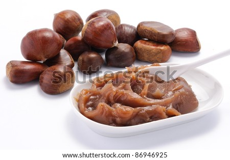 Chestnuts cream and chestnuts