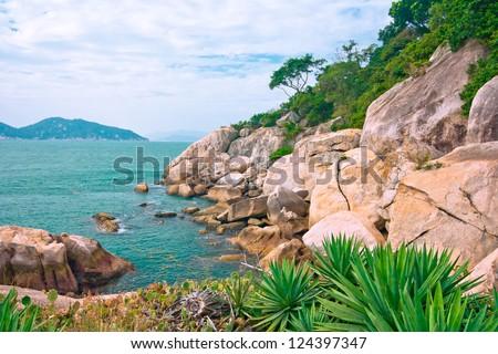 Cheung Chau Island coastal landscape,HONG KONG CHINA