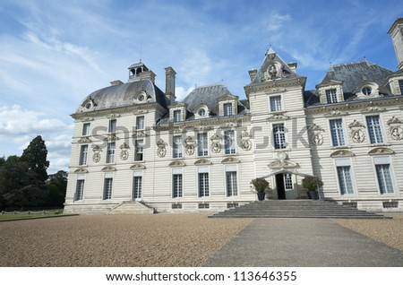CHEVERNY, FRANCE - AUGUST 16: Castle on August 16, 2012 in Cheverny, France.  Built in the 17th century and inspired by the work of artists of the time. It is one of the most famous castles of the Loire Valley