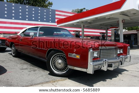 chevrolet and us flag