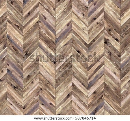 Chevron natural parquet seamless floor texture #587846714
