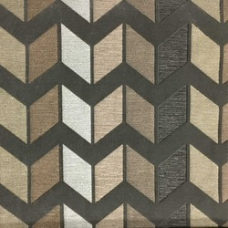 Chevron zig-zag patterned cotton polyester blend upholstery fabric texture
