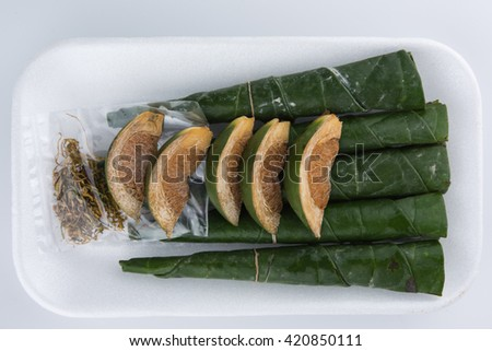 Chewing betel nut and betel leaf #420850111