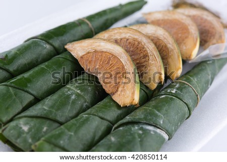 Chewing betel nut and betel leaf #420850114