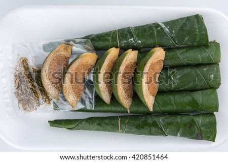 Chewing betel nut and betel leaf #420851464