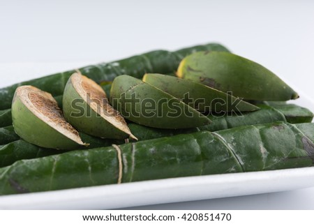 Chewing betel nut and betel leaf #420851470