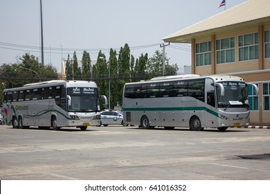 Stock Photo - CHIANG MAI, THAILAND -MAY 1 2017:  Sunlong Bus of Greenbus Company. Route Between Chiangmai and ChiangSaen. Photo at Chiangmai bus station, thailand.