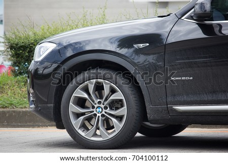 CHIANG MAI, THAILAND - AUGUEST 11  2017: Private Car. Bmw X3. Photo at road no.1001 about 8 km from downtown Chiangmai, thailand. #704100112