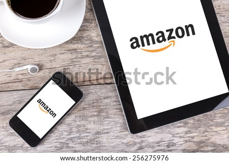 Chiang mai,THAILAND Fab 25, 2015:Amazon.com, Inc. is an American international electronic commerce company. It is the world\'s largest online retailer. Site went online as Amazon.com in 1995