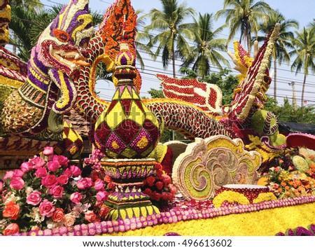 Chiang Mai, Thailand - 7 February 2015 Flower Festival