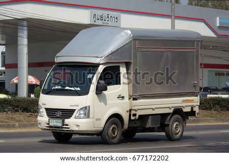 CHIANG MAI, THAILAND -FEBRUARY 16 2017:  Private Tata SuperACE City Giant Mini truck. On road no.1001, 8 km from Chiangmai city. #677172202