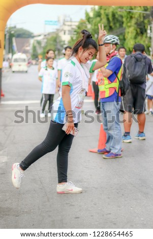 Chiang Rai THAILAND-11: 10: 2018: Project doctor invited run for health, Chiang Rai province Chiang Rai Thailand.People. Running at city. Streets. #1228654465