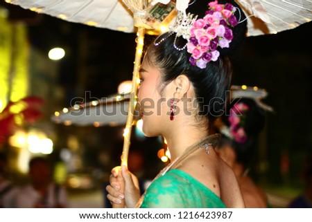 Chiang Rai THAILAND - 10: 28: 2018: uniform Procession of wonders of Chiang Rai city civilized art first. 1 In Chiang Rai Thailand. #1216423987