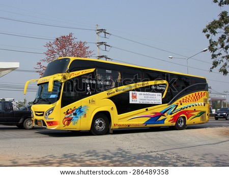 CHIANGMAI , THAILAND -FEBRUARY 16 2015:  Travel Bus of Chiangmai Thailertour. Photo at road no 1001 about 8 km from downtown Chiangmai, thailand.
