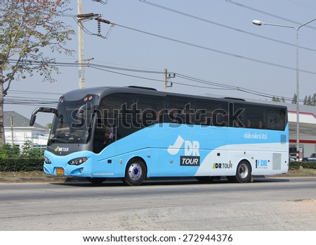 CHIANGMAI, THAILAND -FEBRUARY 2 2015:   Travel Bus of JDRtour. Photo at road no 1001 about 8 km from downtown Chiangmai, thailand.