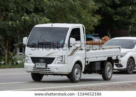 Chiangmai, Thailand - July  31 2018: Private Tata SuperACE City Giant Mini truck. On road no.1001 8 km from Chiangmai city. #1164652186