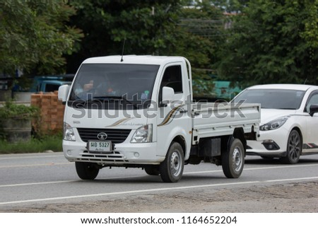 Chiangmai, Thailand - July  31 2018: Private Tata SuperACE City Giant Mini truck. On road no.1001 8 km from Chiangmai city. #1164652204