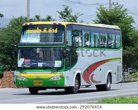 CHIANGMAI , THAILAND -JUNE 29 2015:  Travel bus of Siam it tour. Photo at road no 121 about 8 km from downtown Chiangmai, thailand.