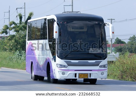 CHIANGMAI, THAILAND - NOVEMBER 17 2014: Travel bus of Standard tour. Photo at road no 121 about 8 km from downtown Chiangmai, thailand.
