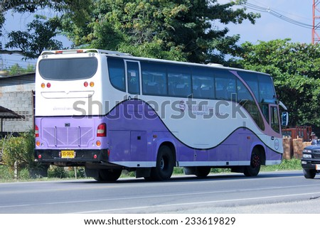 CHIANGMAI, THAILAND - NOVEMBER 24 2014: Travel bus of Standard tour. Photo at road no 121 about 8 km from downtown Chiangmai, thailand.