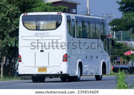 CHIANGMAI, THAILAND -OCTOBER 18 2014: Travel bus of Siam it tour. Photo at road no 121 about 8 km from downtown Chiangmai, thailand.