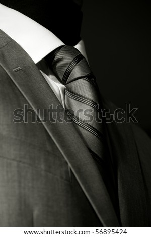 Chic and stylish suit for businessman, black and white