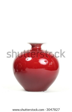 Chic red vase