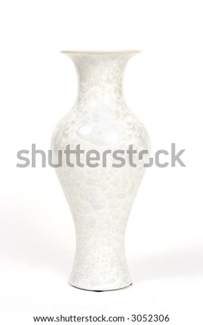 Chic white curved vase